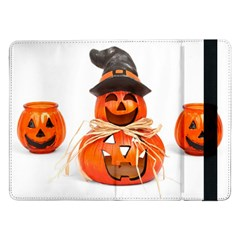 Funny Halloween Pumpkins Samsung Galaxy Tab Pro 12 2  Flip Case by gothicandhalloweenstore