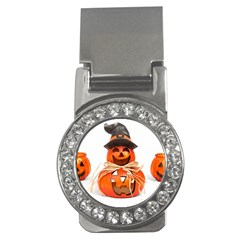 Funny Halloween Pumpkins Money Clips (cz)  by gothicandhalloweenstore