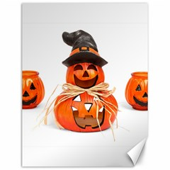 Funny Halloween Pumpkins Canvas 12  X 16   by gothicandhalloweenstore