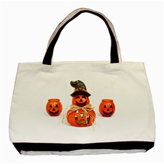 Funny Halloween Pumpkins Basic Tote Bag (two Sides) by gothicandhalloweenstore