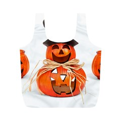 Funny Halloween Pumpkins Full Print Recycle Bags (m)  by gothicandhalloweenstore