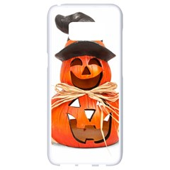 Funny Halloween Pumpkins Samsung Galaxy S8 White Seamless Case by gothicandhalloweenstore