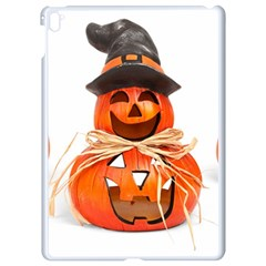 Funny Halloween Pumpkins Apple Ipad Pro 9 7   White Seamless Case by gothicandhalloweenstore