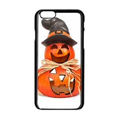 Funny Halloween Pumpkins Apple Iphone 6/6s Black Enamel Case by gothicandhalloweenstore