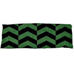 Chevron2 Black Marble & Green Denim Body Pillow Case Dakimakura (two Sides) by trendistuff