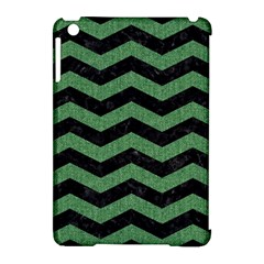 Chevron3 Black Marble & Green Denim Apple Ipad Mini Hardshell Case (compatible With Smart Cover) by trendistuff