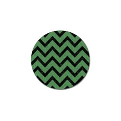 Chevron9 Black Marble & Green Denim Golf Ball Marker (10 Pack) by trendistuff