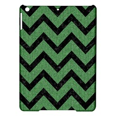 Chevron9 Black Marble & Green Denim Ipad Air Hardshell Cases by trendistuff