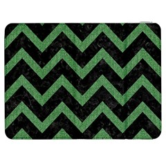Chevron9 Black Marble & Green Denim (r) Samsung Galaxy Tab 7  P1000 Flip Case by trendistuff