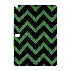 Chevron9 Black Marble & Green Denim (r) Galaxy Note 1 by trendistuff