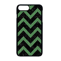 Chevron9 Black Marble & Green Denim (r) Apple Iphone 8 Plus Seamless Case (black) by trendistuff