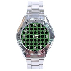 Circles1 Black Marble & Green Denim Stainless Steel Analogue Watch by trendistuff