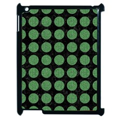 Circles1 Black Marble & Green Denim (r) Apple Ipad 2 Case (black) by trendistuff