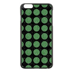 Circles1 Black Marble & Green Denim (r) Apple Iphone 6 Plus/6s Plus Black Enamel Case by trendistuff