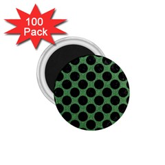 Circles2 Black Marble & Green Denim 1 75  Magnets (100 Pack)  by trendistuff