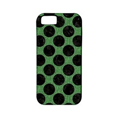 Circles2 Black Marble & Green Denim Apple Iphone 5 Classic Hardshell Case (pc+silicone) by trendistuff