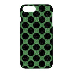 Circles2 Black Marble & Green Denim Apple Iphone 7 Plus Hardshell Case by trendistuff