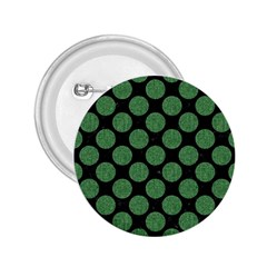 Circles2 Black Marble & Green Denim (r) 2 25  Buttons by trendistuff
