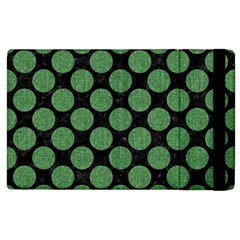 Circles2 Black Marble & Green Denim (r) Apple Ipad 3/4 Flip Case by trendistuff