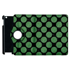 Circles2 Black Marble & Green Denim (r) Apple Ipad 2 Flip 360 Case by trendistuff