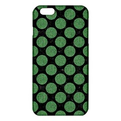 Circles2 Black Marble & Green Denim (r) Iphone 6 Plus/6s Plus Tpu Case by trendistuff