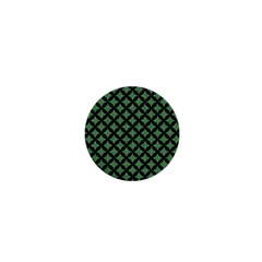 Circles3 Black Marble & Green Denim 1  Mini Buttons by trendistuff