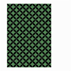 Circles3 Black Marble & Green Denim Small Garden Flag (two Sides) by trendistuff