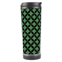 Circles3 Black Marble & Green Denim Travel Tumbler by trendistuff