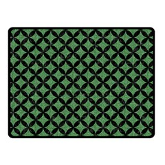 Circles3 Black Marble & Green Denim Double Sided Fleece Blanket (small)  by trendistuff