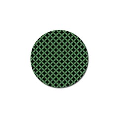 Circles3 Black Marble & Green Denim (r) Golf Ball Marker (4 Pack) by trendistuff