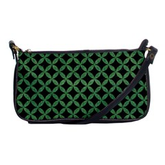 Circles3 Black Marble & Green Denim (r) Shoulder Clutch Bags by trendistuff