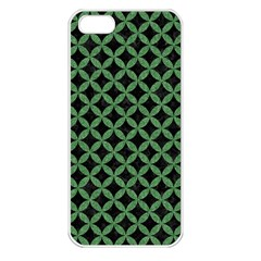 Circles3 Black Marble & Green Denim (r) Apple Iphone 5 Seamless Case (white) by trendistuff