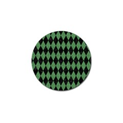 Diamond1 Black Marble & Green Denim Golf Ball Marker (10 Pack) by trendistuff