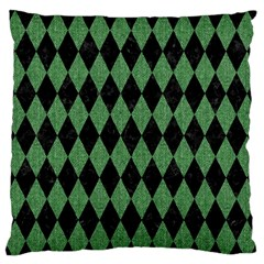 Diamond1 Black Marble & Green Denim Standard Flano Cushion Case (two Sides) by trendistuff