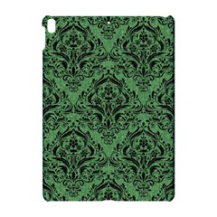 Damask1 Black Marble & Green Denim Apple Ipad Pro 10 5   Hardshell Case by trendistuff