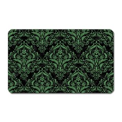 Damask1 Black Marble & Green Denim (r) Magnet (rectangular) by trendistuff