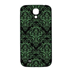 Damask1 Black Marble & Green Denim (r) Samsung Galaxy S4 I9500/i9505  Hardshell Back Case by trendistuff