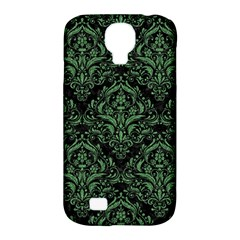 Damask1 Black Marble & Green Denim (r) Samsung Galaxy S4 Classic Hardshell Case (pc+silicone) by trendistuff