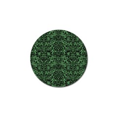 Damask2 Black Marble & Green Denim Golf Ball Marker by trendistuff