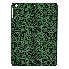 Damask2 Black Marble & Green Denim Ipad Air Hardshell Cases by trendistuff