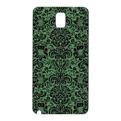 Damask2 Black Marble & Green Denim Samsung Galaxy Note 3 N9005 Hardshell Back Case by trendistuff