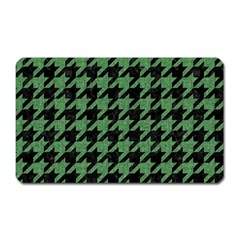 Houndstooth1 Black Marble & Green Denim Magnet (rectangular) by trendistuff