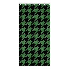 Houndstooth1 Black Marble & Green Denim Shower Curtain 36  X 72  (stall)  by trendistuff