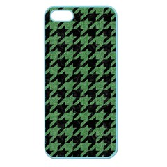 Houndstooth1 Black Marble & Green Denim Apple Seamless Iphone 5 Case (color) by trendistuff