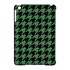 Houndstooth1 Black Marble & Green Denim Apple Ipad Mini Hardshell Case (compatible With Smart Cover) by trendistuff