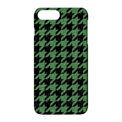Houndstooth1 Black Marble & Green Denim Apple Iphone 8 Plus Hardshell Case by trendistuff
