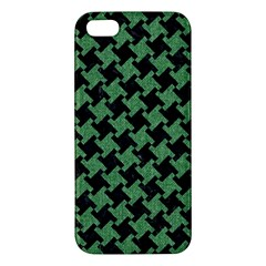 Houndstooth2 Black Marble & Green Denim Iphone 5s/ Se Premium Hardshell Case by trendistuff
