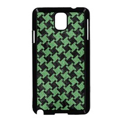 Houndstooth2 Black Marble & Green Denim Samsung Galaxy Note 3 Neo Hardshell Case (black) by trendistuff