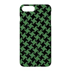 Houndstooth2 Black Marble & Green Denim Apple Iphone 8 Plus Hardshell Case by trendistuff