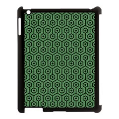 Hexagon1 Black Marble & Green Denim Apple Ipad 3/4 Case (black) by trendistuff